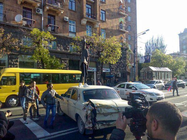 Բողոքի ակցիայի մասնակիցները խաթարեցին մայրաքաղաքի երթևեկությունը՝ փակելով փողոցները - Sputnik Արմենիա