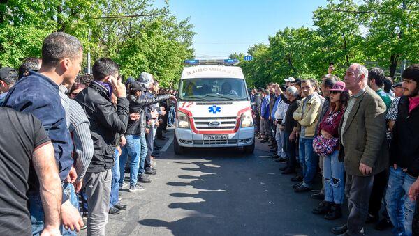 Беспорядки на проспекте Баграмяна (16 апреля 2018). Ереван - Sputnik Армения