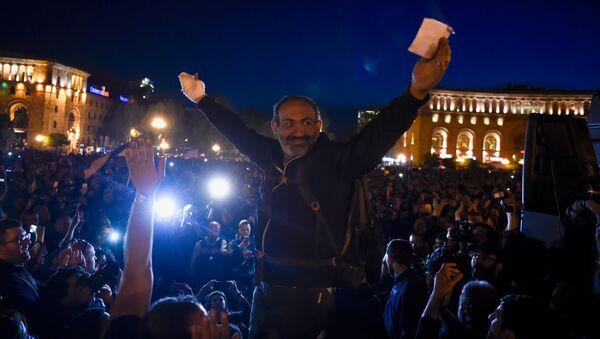 Митинг оппозиции на площади Республики (17 апреля 2018). Ереван - Sputnik Արմենիա