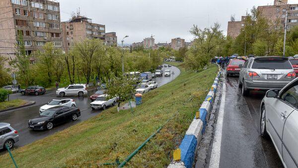 Акция протеста оппозиции в округе Нор Норк (21 апреля 2018). Ереван - Sputnik Արմենիա