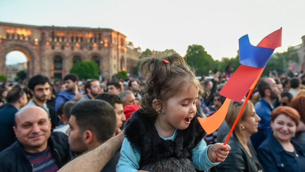Площадь Республики перед началом митинга (23 апреля 2018). Ереван - Sputnik Армения
