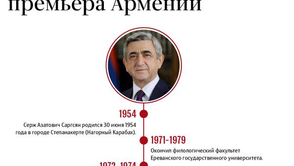 Биография Сержа Саргсяна, подавшего в отставку с поста премьера Армении - Sputnik Армения
