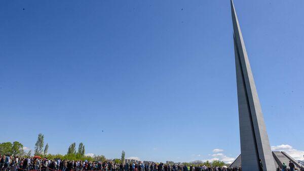 Мемориальний комплекс Цицернакаберд (24 апреля 2018). Ереван - Sputnik Արմենիա