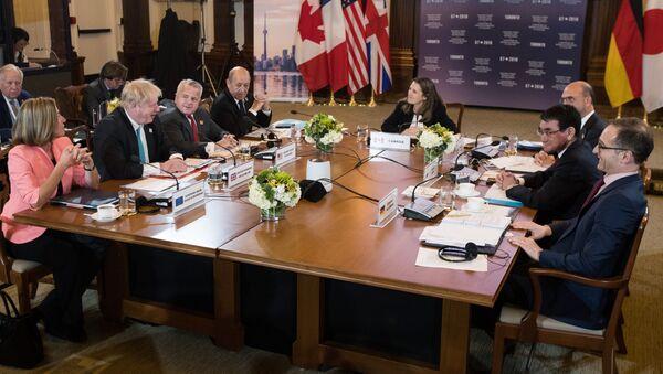 Встреча глав МИД стран участниц G7 во время рабочего заседания (22 апреля 2018). Торонто, Канада - Sputnik Армения