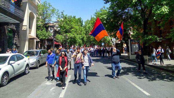 Ситуация на улице Абовяна (25 апреля 2018). Ереван - Sputnik Արմենիա