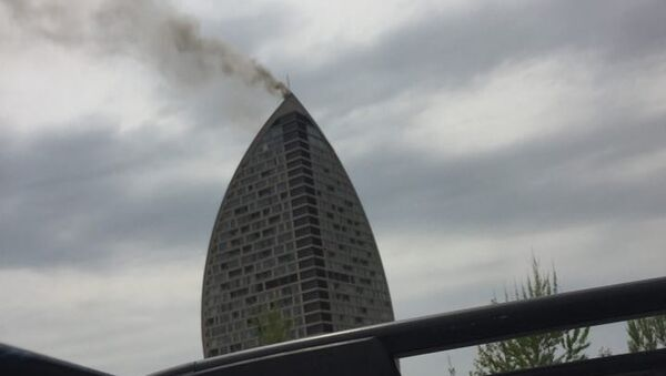 Пожар в здании Trump Tower в Баку - Sputnik Արմենիա