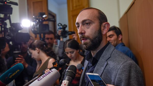 Депутат оппозиционной фракции Елк в НС Арарат Мирзоян (30 апреля 2018). Еревaн - Sputnik Армения