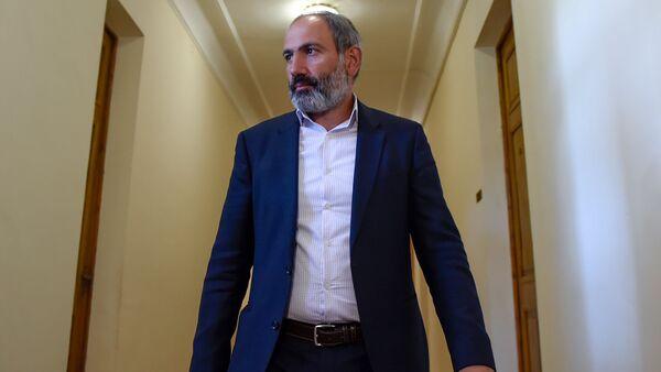 Лидер оппозиционной фракции Елк в НС Никол Пашинян (30 апреля 2018). Еревaн - Sputnik Армения