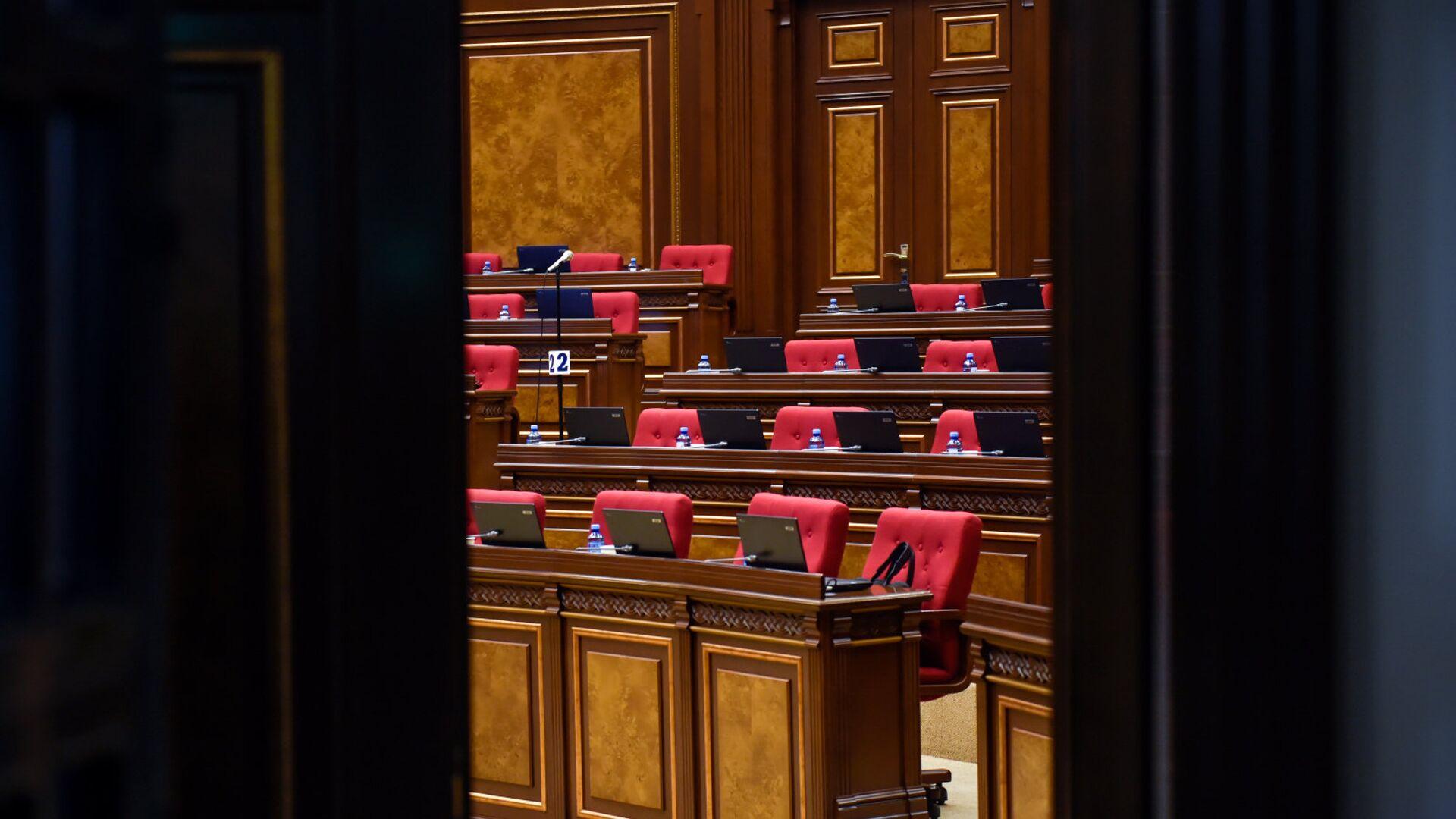 Зал заседаний НС Армении перед выборами (1 мая 2018). Еревaн - Sputnik Արմենիա, 1920, 08.06.2021