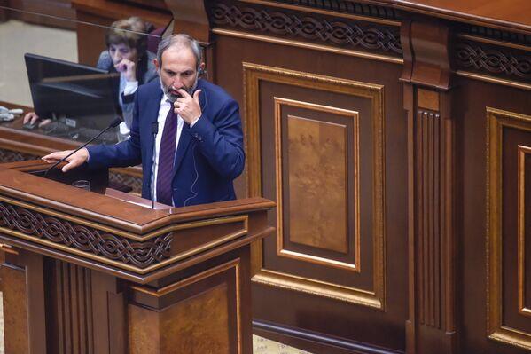 ԱԺ հատուկ նիստում ելույթ է ունենում Նիկոլ Փաշինյանը - Sputnik Արմենիա
