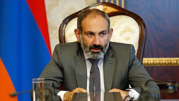 Премьер-министр Армении Никол Пашинян на совещании нового правительства (13 мая 2018). Еревaн - Sputnik Армения