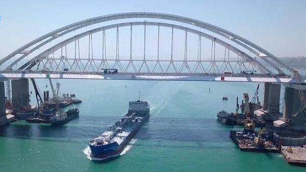Как строили Крымский мост. Ускоренная видеоверсия - Sputnik Армения