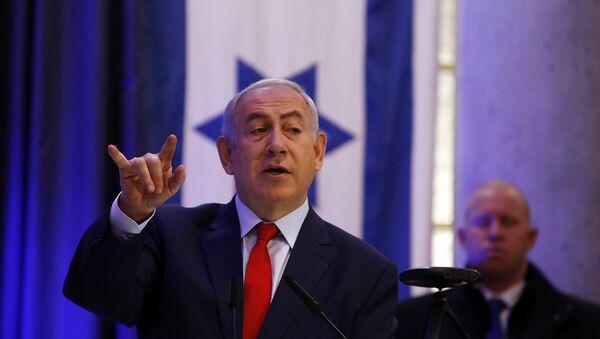 Выступление премьер-министра Израиля Биньямин Нетаньяху на международной конференции по цифровой дипломатии (7 декабря 2017). Иерусалим - Sputnik Армения