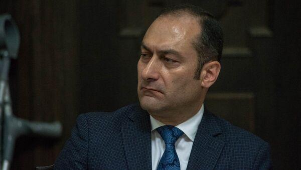 Министр юстиции Армении Артак Зейналян на заседании правительства (17 мая 2018). Еревaн - Sputnik Արմենիա
