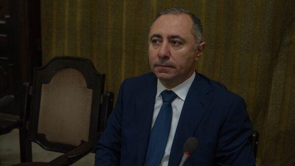 Министр энергетических инфраструктур и природных ресурсов Армении Артур Григорян на заседании правительства (17 мая 2018). Еревaн - Sputnik Արմենիա