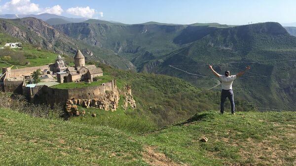 Съемочная группа международного фестиваля дудука в Армении - Sputnik Армения