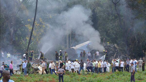 Место аварии самолета Boeing 737 авиокомпании Cubana de Aviacion (18 мая 2018). Гаванa, Куба - Sputnik Արմենիա