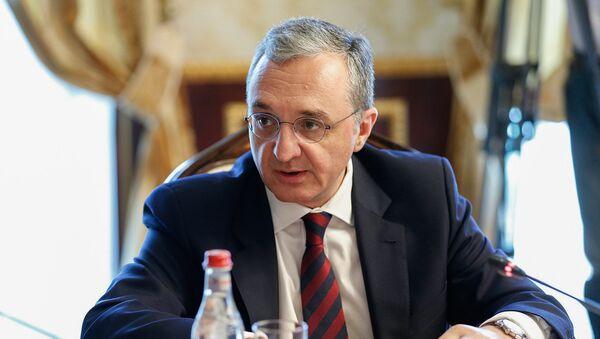 Министр иностранны дел Армении Зограб Мнацаканян - Sputnik Արմենիա
