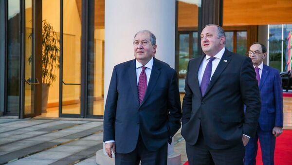 Президент Армении Армен Саркисян встретился с президентом Грузии Георгием Маргвелашвили (25 мая 2018). Тбилиси - Sputnik Армения