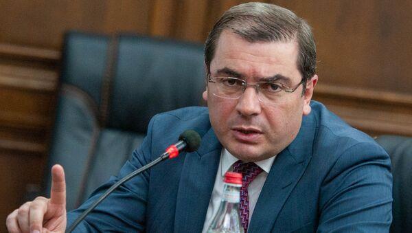 Председатель КГД Армении Давид Ананян в парламенте (29 мая 2018). Еревaн - Sputnik Армения
