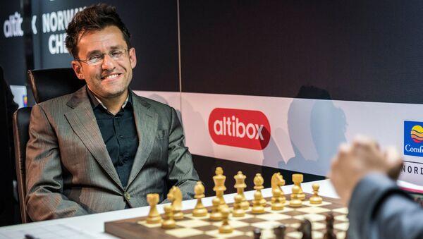 Партия Левон Аронян Вишванатан Ананд в турнире Altibox Norway Chess 2018 (29 мая 2018). Ставангер, Норвегия - Sputnik Армения