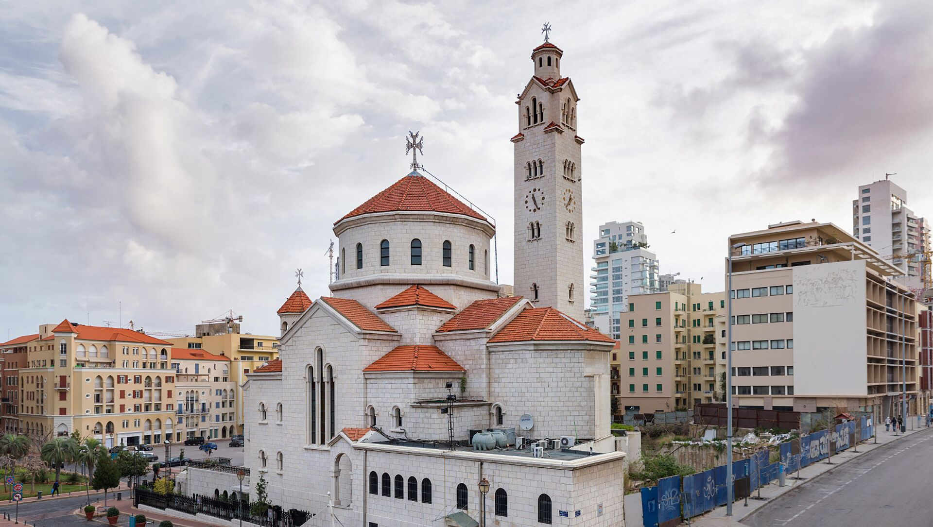 Католический собор армянской католической церкви Св.Ильи и Св.Григория Просвятителя. Бейрут, Ливан - Sputnik Армения, 1920, 25.05.2021