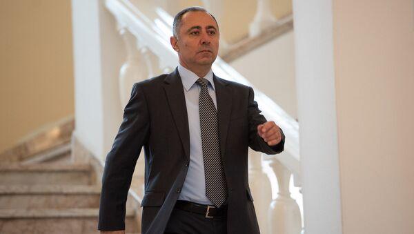 Министр энергетических инфраструктур и природных ресурсов Армении Артур Григорян после заседания правительства (1 июня 2018). Еревaн - Sputnik Արմենիա
