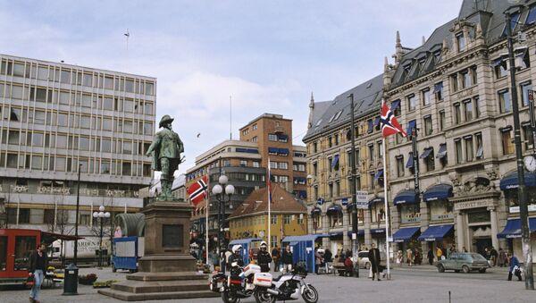 Столица Норвегии Осло, полиция - Sputnik Армения