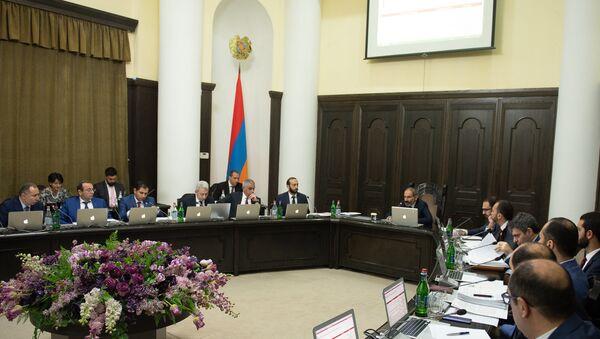 Заседание правительства Армении (8 июня 2018). Еревaн - Sputnik Армения