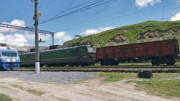 Составы с рудой на станции Зод - Sputnik Армения
