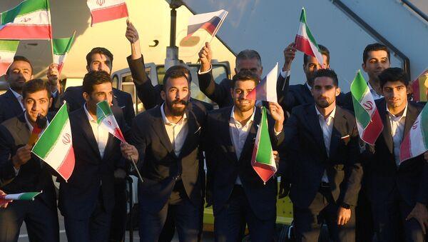 Футболисты сборной Ирана в аэропорту Внуково - Sputnik Армения