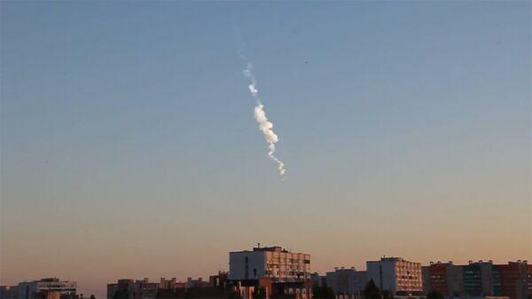 След от метеорита в небе над Воронежем - Sputnik Армения