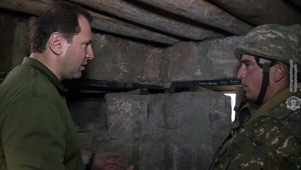 Министр обороны Армении Давид Тоноян посетил войсковую часть на северо-востоке страны - Sputnik Армения