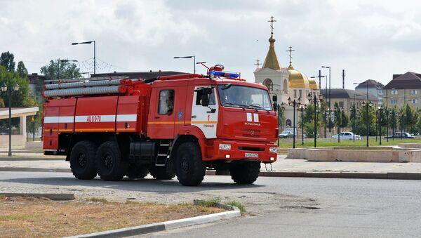 Пожарная машина в Грозном - Sputnik Արմենիա