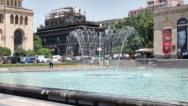 Фонтан на площади Республики, Еревaн - Sputnik Армения