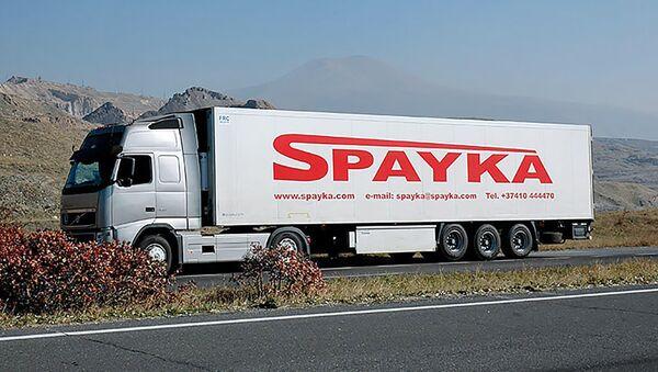 Грузовой автомобиль компании Spayka - Sputnik Армения