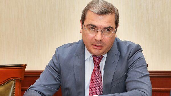 Председатель КГД Армении Давид Ананян принял делегацию МВФ во главе с Мартином Гроте (4 июня 2018). Еревaн - Sputnik Արմենիա