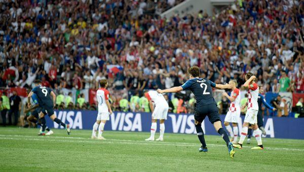 Финальный матч чемпионата мира по футболу между сборными Франции и Хорватии (15 июля 2018). Москва - Sputnik Армения