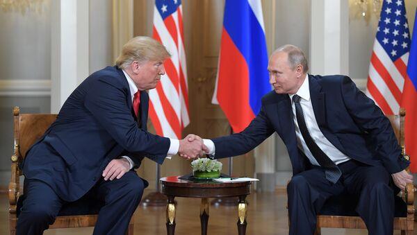 Встреча президентов России и США Владимира Путина и Дональда Трампа (16 июля 2018). Хельсинки - Sputnik Армения