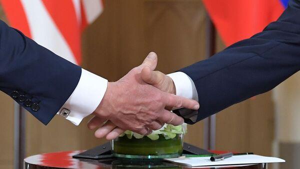Встреча Президентов России и США Владимира Путина и Дональда Трампа в президентском дворце (16 июля 2018). Хельсинки - Sputnik Армения