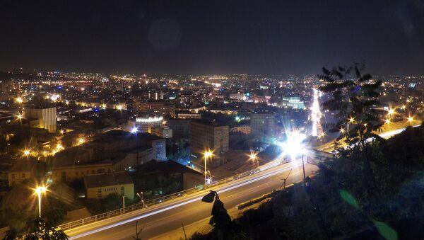 Ночная панорама Еревана - Sputnik Արմենիա