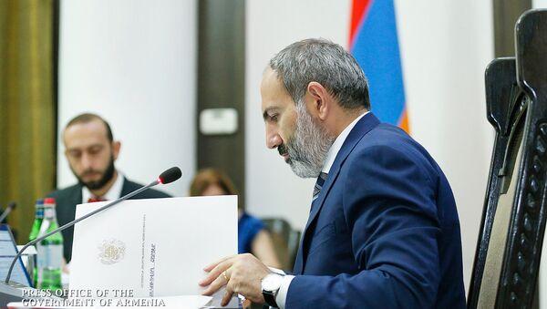 Премьер министр Никол Пашинян на заседании Правительства (9 августа 2018). Еревaн - Sputnik Արմենիա