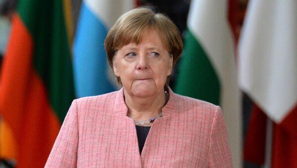 Канцлер Германии Ангела Меркель на саммите ЕС (22 марта 2018). Брюссель - Sputnik Армения