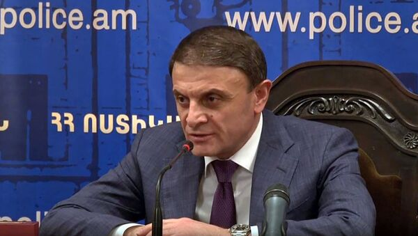 Начальник полиции Армении Валерий Осипян во время коллегиального совещания (20 августа 2018). Еревaн - Sputnik Արմենիա