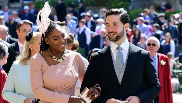 Супруги Алексис Оганян и Серена Уильямс на свадьбе Принца Гарри и Меган Маркл (19 мая 2018). Виндзор, Великобритания - Sputnik Армения
