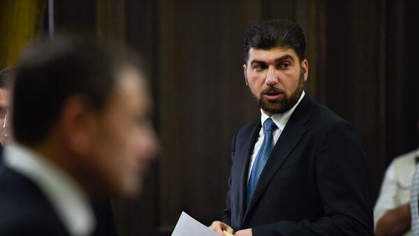 Глава гос.контрольной службы Давид Санасарян на заседании правительства Армении (6 сентября 2018). Еревaн - Sputnik Արմենիա