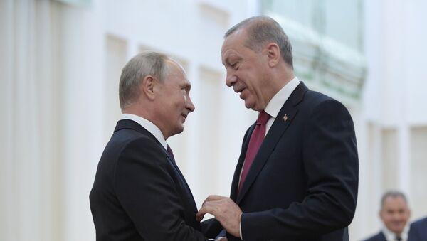 Президент РФ Владимир Путин и президент Турции Реджеп Тайип Эрдоган - Sputnik Армения