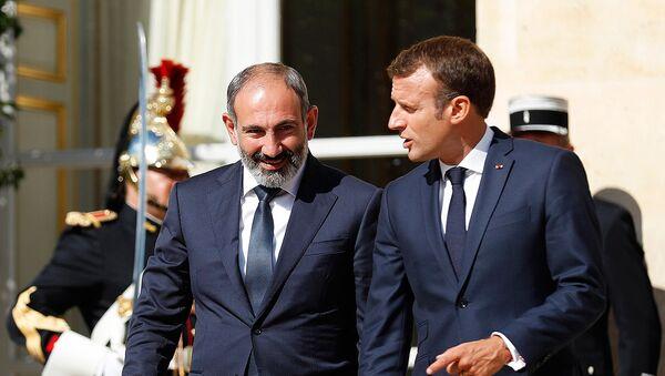 Встреча премьер-министра Армении Никола Пашиняна и Президента Франции Эммануэля Макрона (14 сентября 2018).Париж - Sputnik Армения