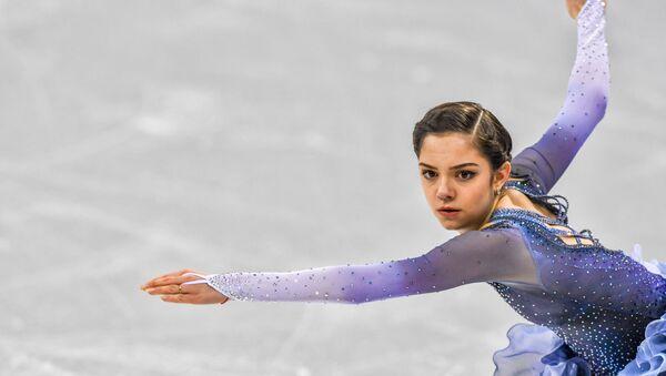 Фигурное катание, короткая программа, женщины. Евгения Медведева (21 февраля 2018). Пхенчхан, Южная Корея - Sputnik Армения