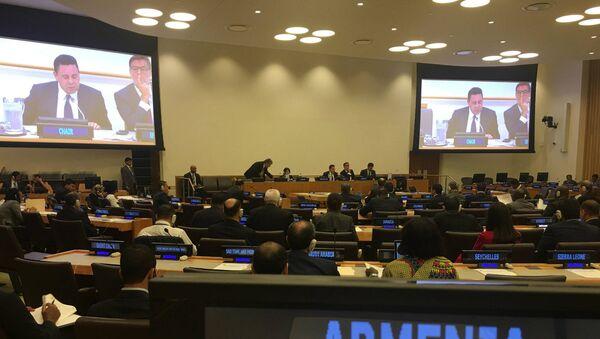 Выступление Ваграма Кажояна в ООН (26 сентября 2018). Нью-Йорк - Sputnik Արմենիա
